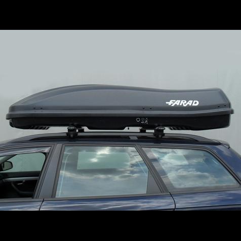 Baule portapacchi farad marlin f3 680l nero satinato for 3 box auto con abitazione